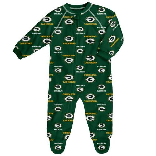 Outerstuff NFL Infant Green Bay Packers Raglan Zip Up Covera