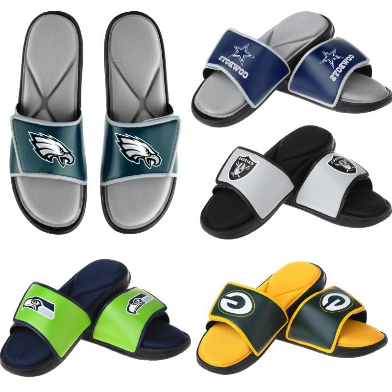 nfl men s foam sport slide sandals