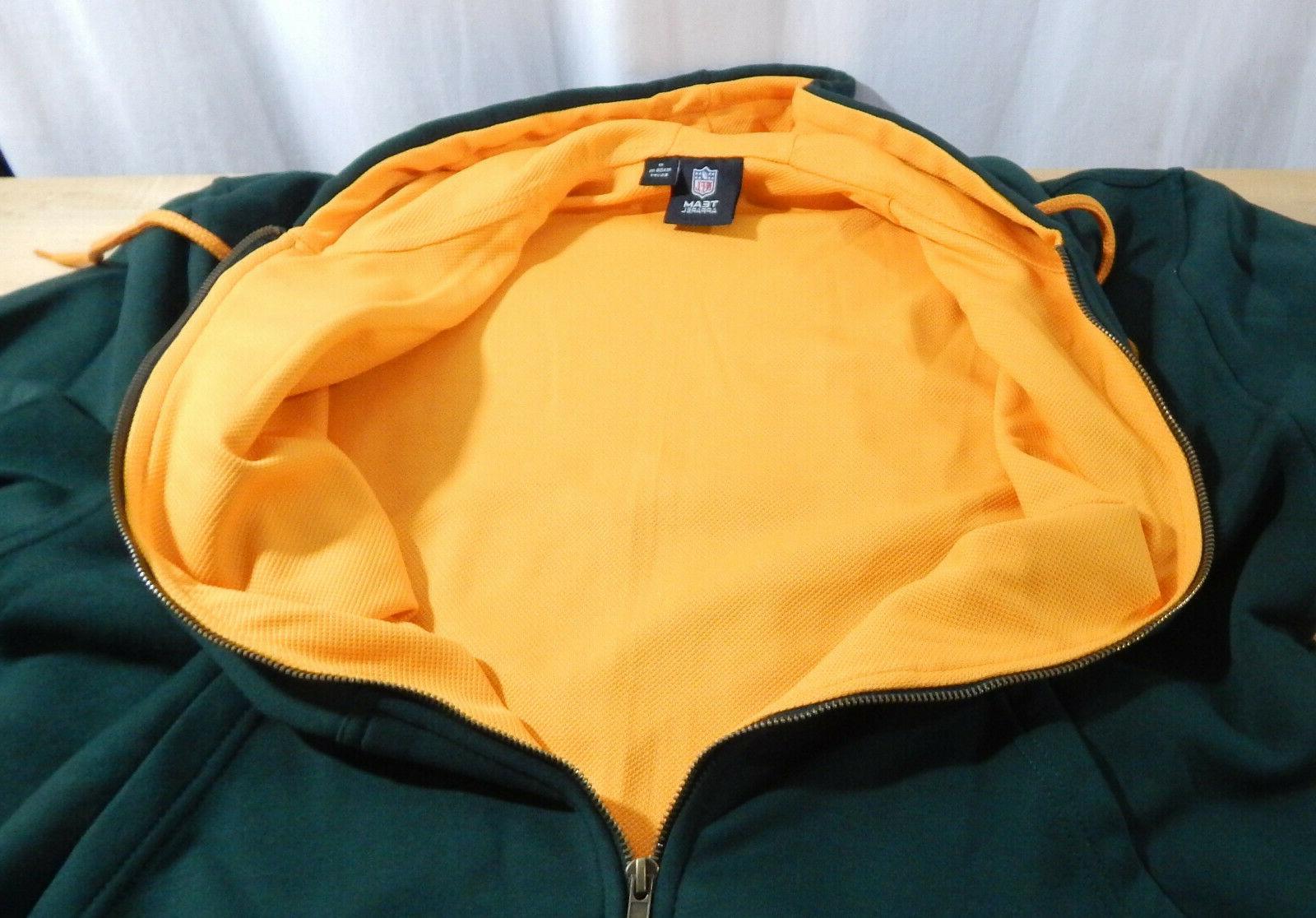 NWT Men's Apparel Green Full Zip Hoodie