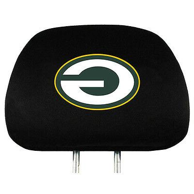 pair of green bay packers head rest