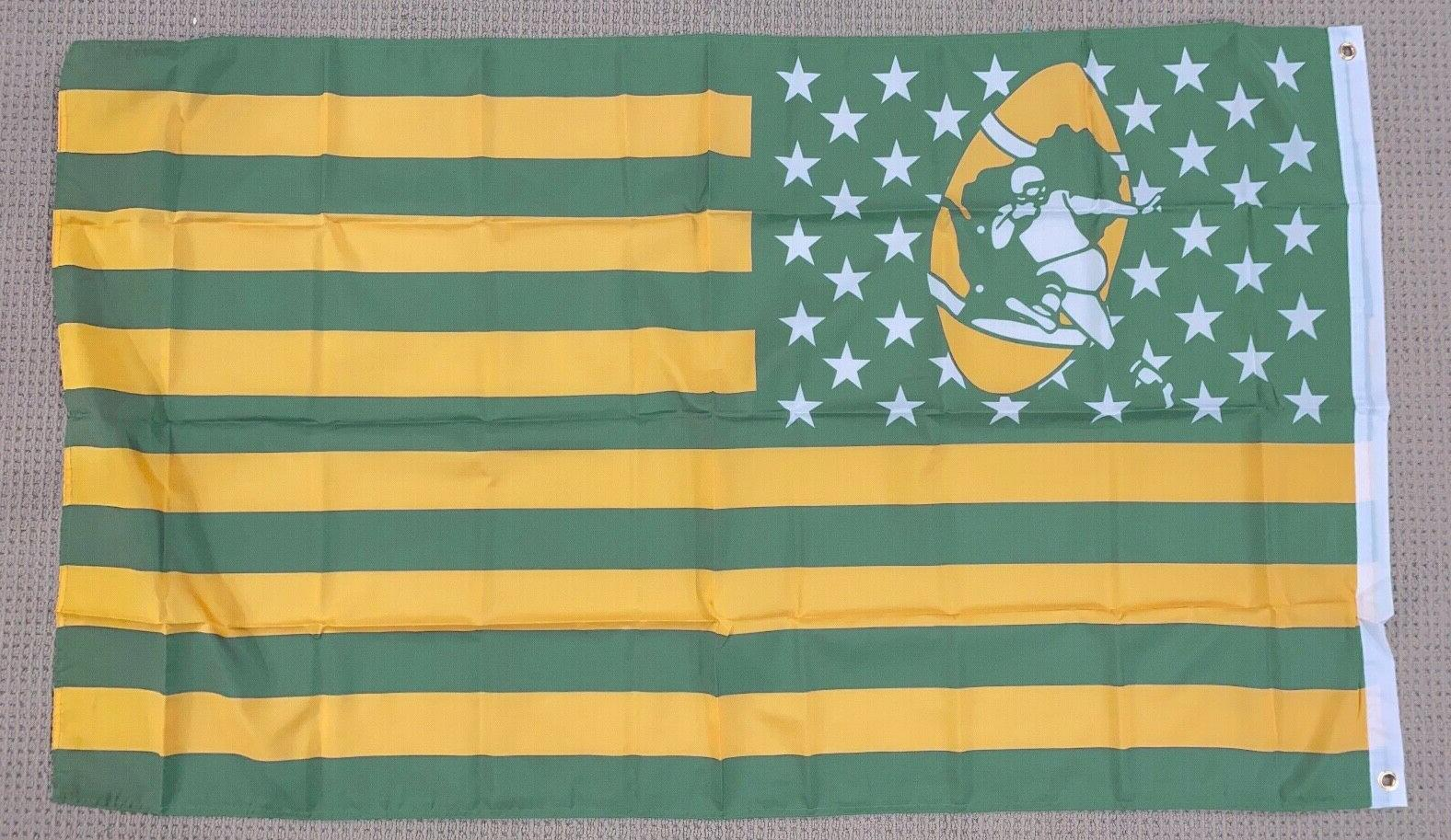 retro green bay packers 3x5 ft american
