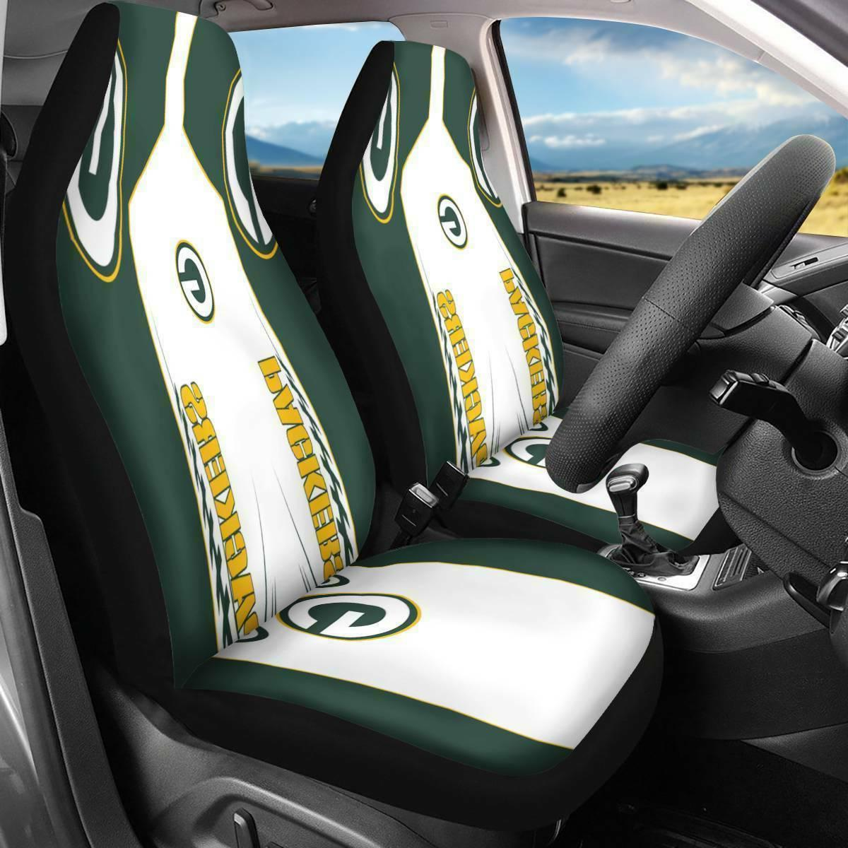 us green bay packers 2pcs car seat