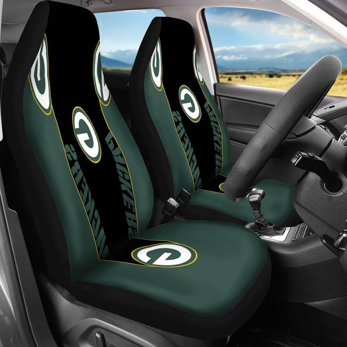 US Green Bay Packers Universal Fit Car Seat Cover 2PCS Auto