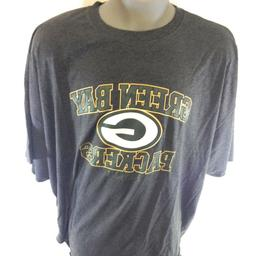 Mens Green Bay Packers Football Grey NFL Team Apparel Big &