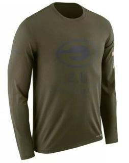 Nike Men's Green Bay Packers Salute To Service Long Sleeve