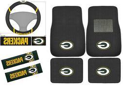New 7pc Set NFL Green Bay Packers Car Truck Floor Mats Steer