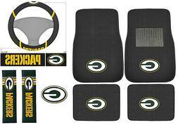New 8pc Set NFL Green Bay Packers Car Truck Floor Mats Steer
