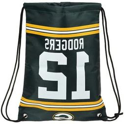 NEW! Aaron Rodgers #12 Drawstring Backpack Green Bay Packers