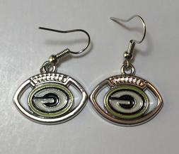 New Green Bay Packers Football Shape Fish Hook Earrings, Gif