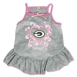NEW GREEN BAY PACKERS PET DOG PINK TOO CUTE SQUAD CHEERLEADE