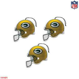 New NFL Green Bay Packers Paper Hanging Air Freshener 3 pack