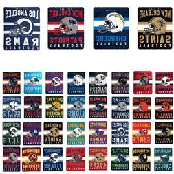 "New NFL Helmet Logo Soft Fleece Throw Blanket 50"" X 60"" All"