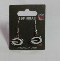 NEW Womens Green Bay Packers Pretty Silver Green & White Pie