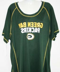 NEW Womens NFL Apparel Green Bay Packers Dark Green Syntheti