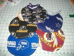 Handmade Newborn Bibs - made with NFL fabric