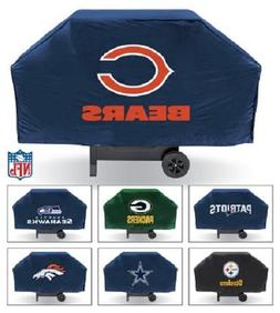 NFL 68 Inch Vinyl Economy Gas or Charcoal Grill Cover -Selec