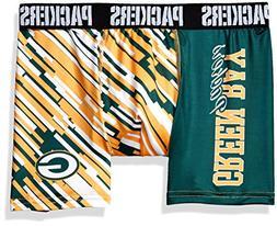KLEW NFL Green Bay Packers Wordmark Underwear, Large, Green