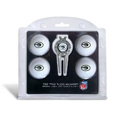NFL Green Bay Packers 4 Golf Balls and Divot Tool