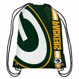 Green Bay Packers NFL Big Logo Side Stripe DrawString Backpa