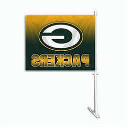 NFL Green Bay Packers Car Flag , One Size, Team Color