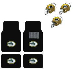 NFL Green Bay Packers Car Truck Carpet Floor Mats & Hanging