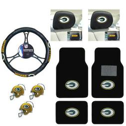 NFL Green Bay Packers Car Truck Floor Mats Steering Wheel Co