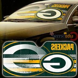 NFL Green Bay Packers Car Windshield Front Window Sun Shade