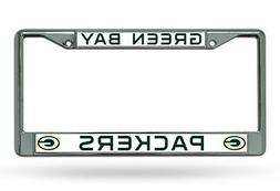 NFL Green Bay Packers Chrome Licensed Plate Frame