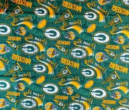 NFL GREEN BAY PACKERS Cotton Fabric 1 Fat Quarter