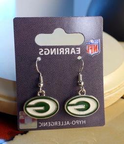 NFL Green Bay Packers Dangle Earrings
