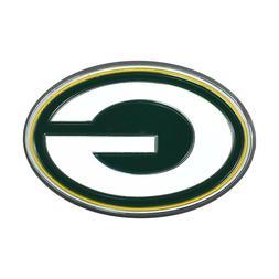 Fanmats NFL Green Bay Packers Diecast 3D Color Emblem Car Tr