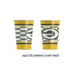NFL Green Bay Packers Disposable Paper Cups