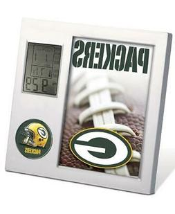 NFL GREEN BAY PACKERS FOOTBALL TEAM DIGITAL DESK CLOCK ALARM