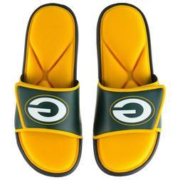 NFL Green Bay Packers Men's Deluxe Foam Sport Slide Sandals