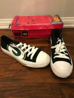 NFL Green Bay Packers Mens Foco Low Canvas Shoes Sneakers Ne