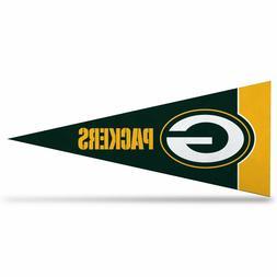"""NFL Green Bay Packers Mini Pennant 9""""x4"""" Felt Banner Flag NE"""