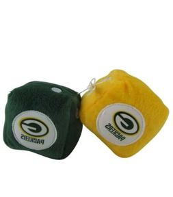 NFL Green Bay Packers Plush Fuzzy Dice Auto Accessories