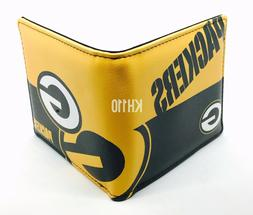 NFL Green Bay Packers Men's Printed Logo Leather Bi-Fold Wal