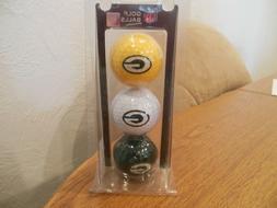 NFL GREEN BAY PACKERS SET OF 3 GOLF BALLS