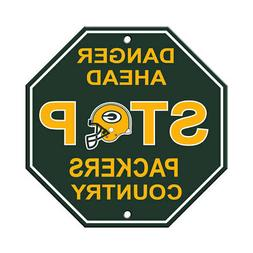 NFL Green Bay Packers Stop Sign Danger Ahead Home Room Bar D