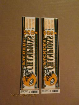 NFL Green Bay Packers Vintage Lot of 2 1996 NFC Champions Bu