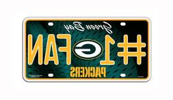 NFL Green Bay Packers #1 Fan Metal Auto Tag