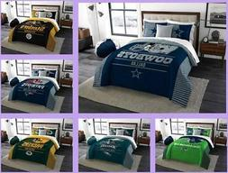 NFL Licensed 3 Piece King Comforter & Sham Bed Set In A Bag
