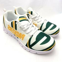 NFL Men's Green Bay Packers Lightweight Lace up Sneakers Sho