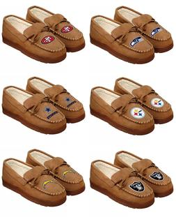 NFL/ MLB Team Logo Warm Winter Moccasin Slippers-Pick your t