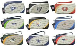 NFL Women's Officially Licensed Curve Zip Organizer Wallet