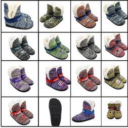 NFL Women's Wordmark Peak Boots Slippers Faux Wool Lined Hou