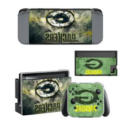 NINTENDO SWITCH - Green Bay Packers - Vinyl Skin + 2 Joycon