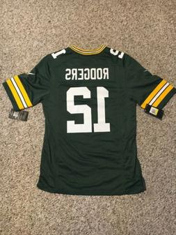 NWT Football Jersey Aaron Rodgers #12 Men's Small Green Bay