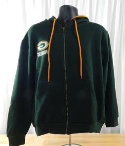 NWT Men's NFL Team Apparel Green Bay Packers Full Zip Hoodie
